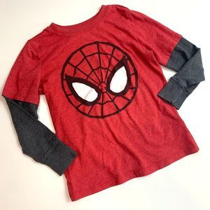 Long Sleeve Layered Spiderman T Shirt Old Navy 5t